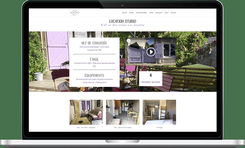 site internet Acacia's Home web la rochelle