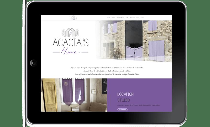 site internet Acacia's Home la Rochelle web