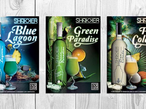 Étiquettes et Affiches cocktails