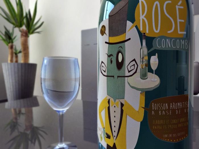 illustration mascotte concombre vin graphisme com1vision niort la rochelle