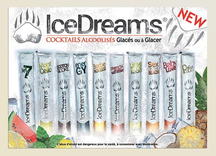 ice dreams glace graphisme packaging com1vision création affiche marseille