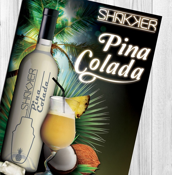 cocktail bar graphisme web affiche la rochelle niort angers nantes pina colada