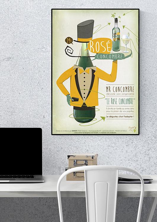 illustration affiche concombre vin graphisme com1vision niort la rochelle nantes
