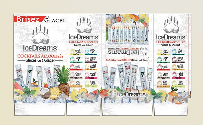 box packaging Icedreams graphisme glace com1vision
