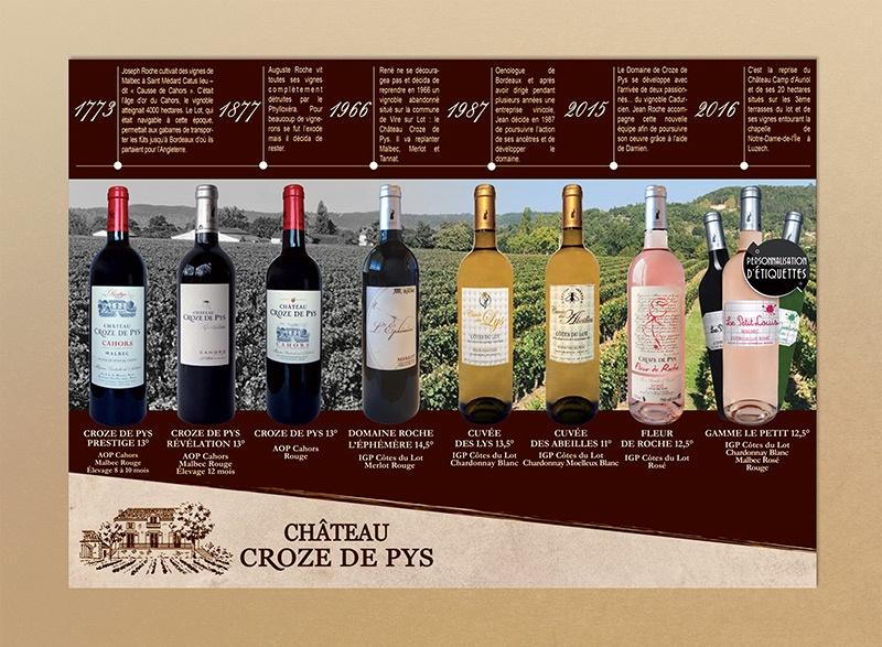 brochure cahors vin rouge rose blanc vigneron bordeaux saumur