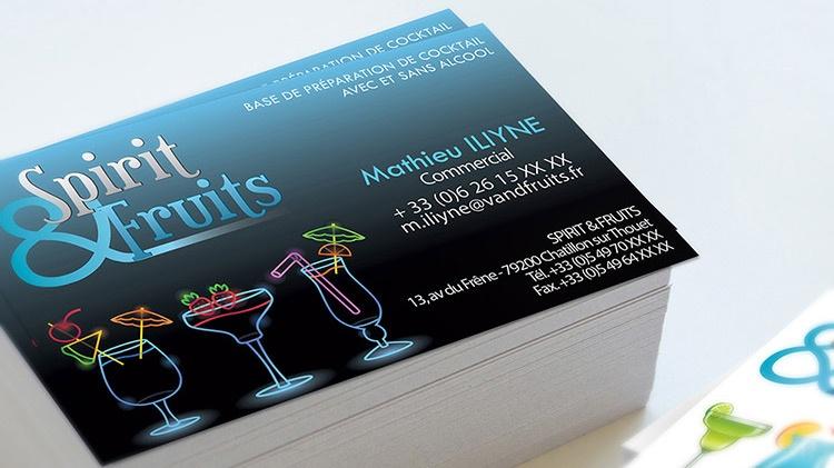 Carte de visite bar restaurant alcool graphisme com1vision