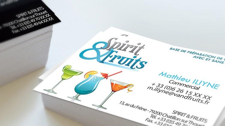 Carte de visite bar restaurant alcool graphisme la rochelle niort com1vision