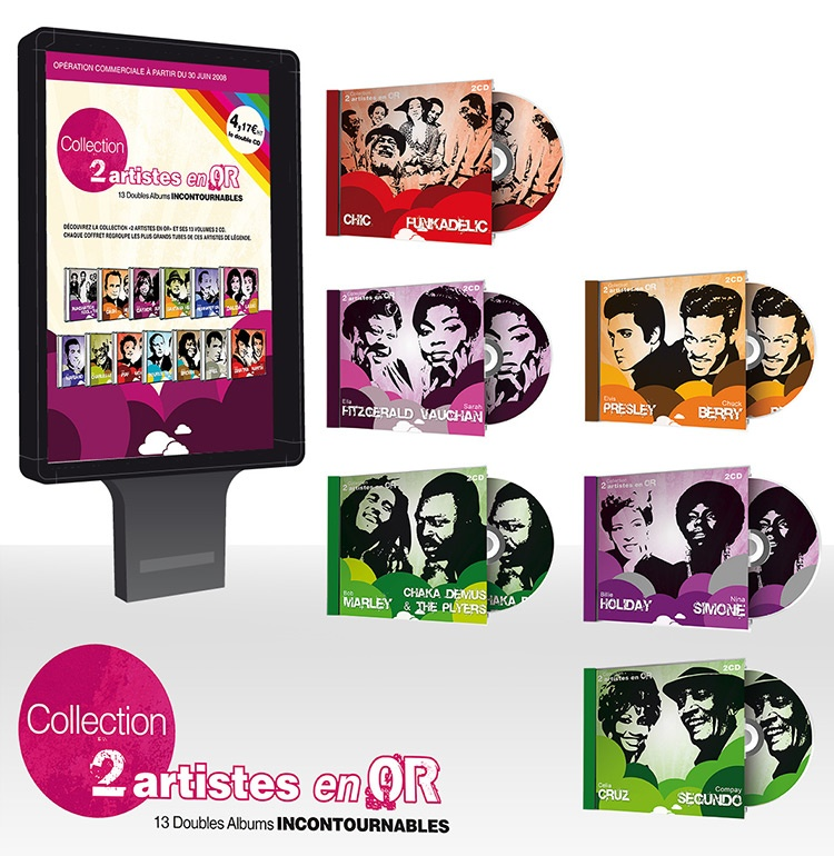 cd music com1vision graphisme artistes en or magasin boutique france
