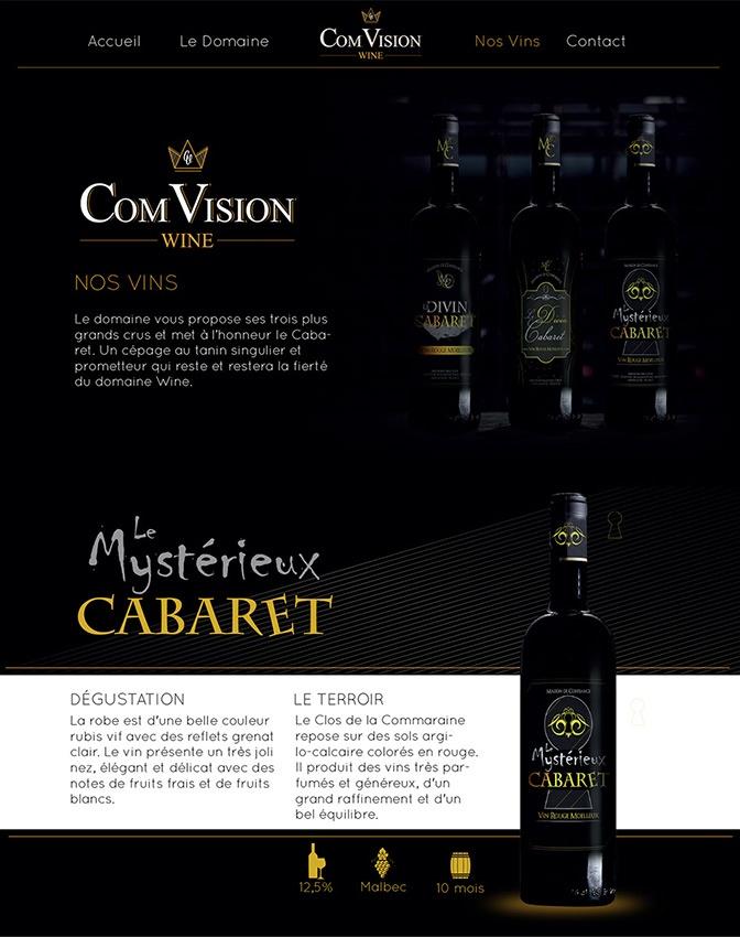 com1vision wine produit site internet  la rochelle niort