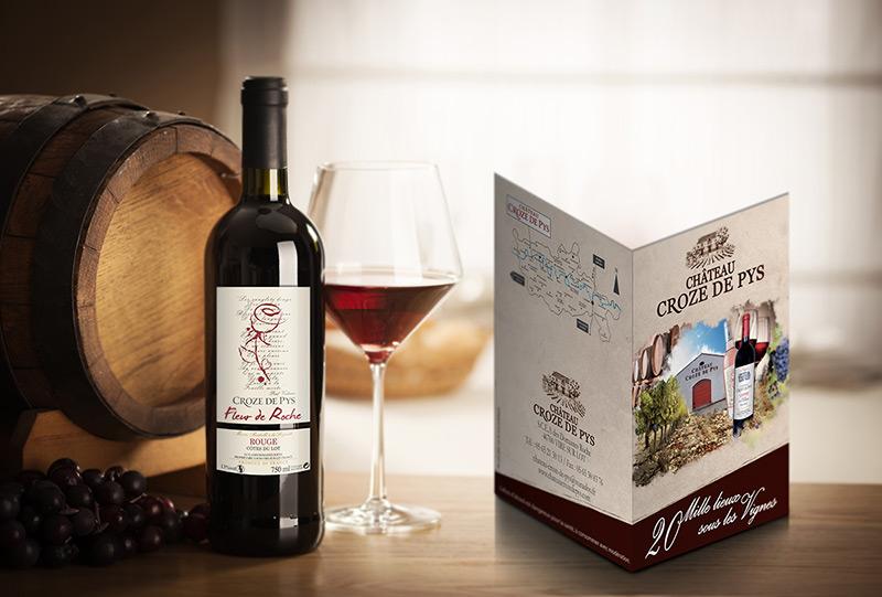 brochure cahors com1vision vin rouge rose blanc vigneron bordeaux saumur