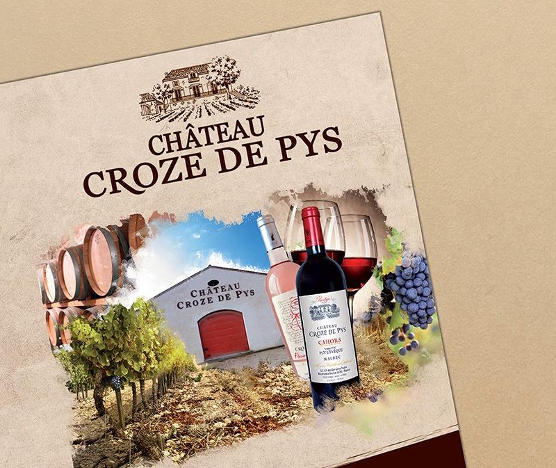 flyer étiquette cahors com1vision vin rouge rose blanc vigneron bordeaux saumur