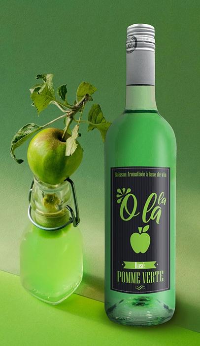 boisson aromatisée pomme etiquettes graphisme niort parthenay la rochelle cholet