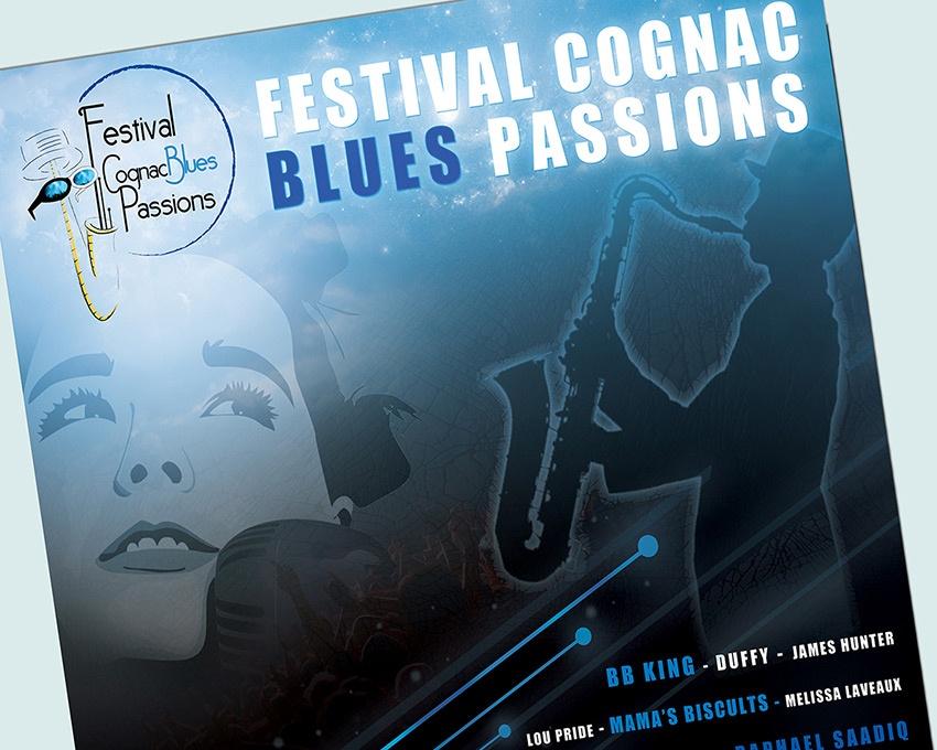 festival com1vision graphisme cognac blues passions affiche catalogue
