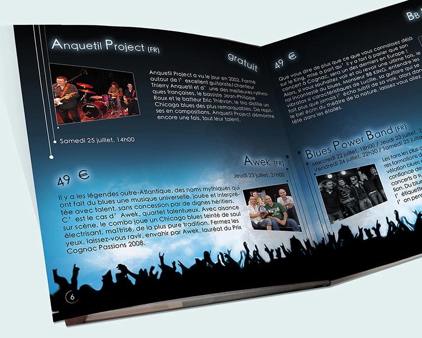 festival com1vision graphisme cognac blues passions affiche dépliant