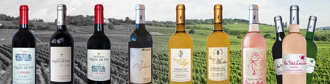brochure étiquette cahors com1vision vin rouge rose blanc vigneron bordeaux saumur