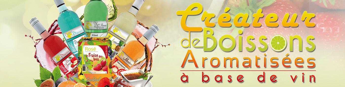 Boisson aromatisée a base de vin graphisme la rochelle niort saumur parthenay