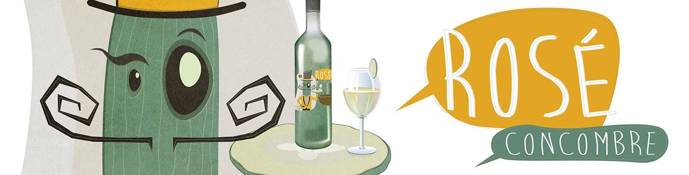 illustration mascotte concombre vin graphisme com1vision niort la rochelle nantes