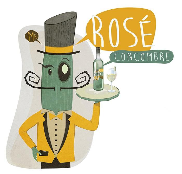 illustration fun concombre vin graphisme com1vision niort la rochelle nantes