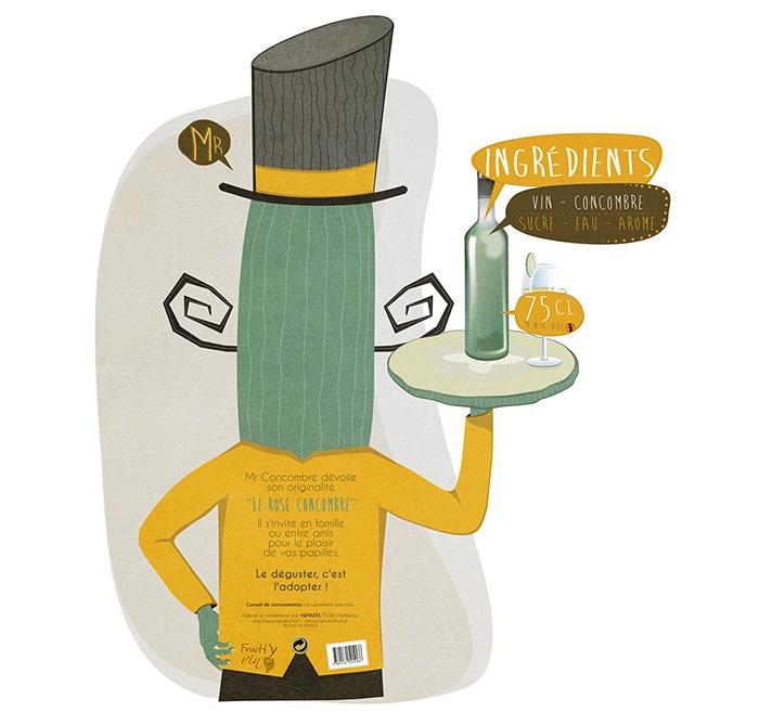 mascotte concombre alcool vin graphisme com1vision niort la rochelle nantes