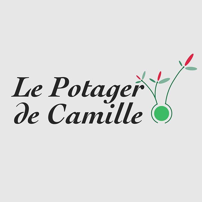 logo marque le potager de camille graphisme com1vision