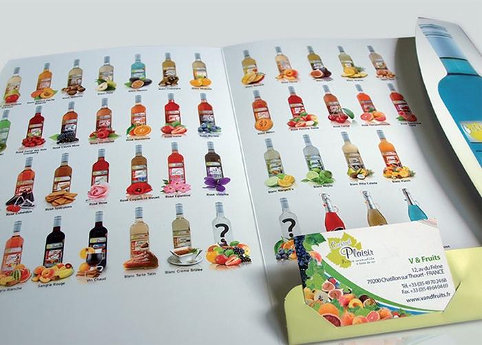 Boisson aromatisée a base de vin graphisme la rochelle saumur brochure dépliant