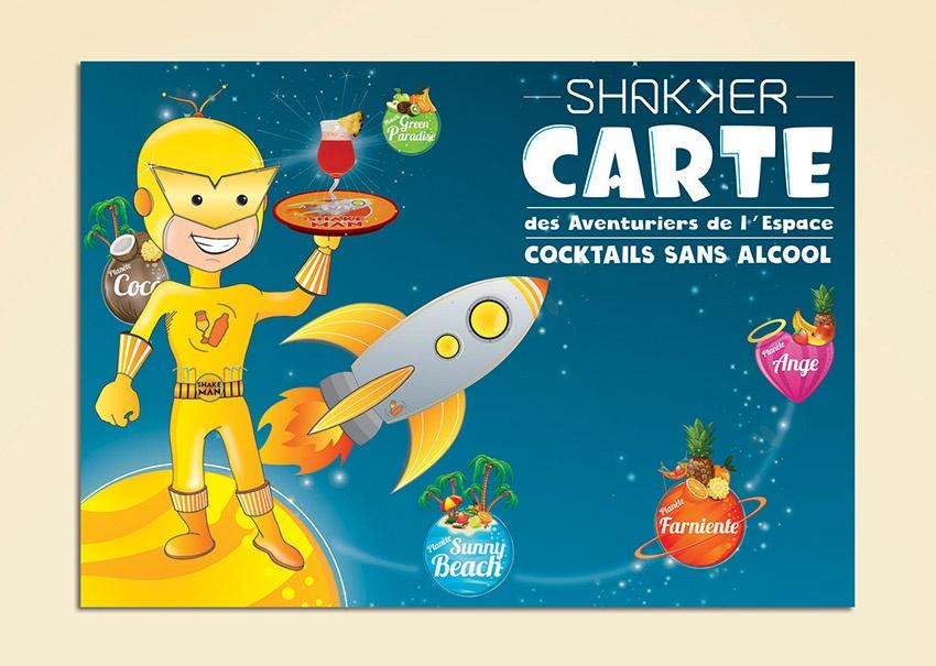 Graphisme cocktails enfant dépliant flyer boisson la rochelle niort cholet