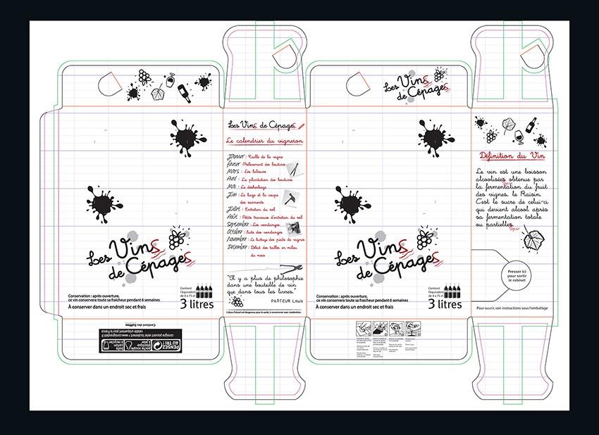 vin de cepage graphisme bib packaging com1vision