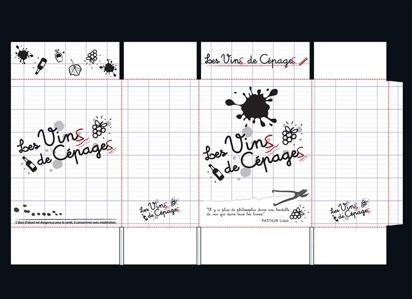 vin de cepage graphisme com1vision etiquette packaging cahors la rochelle saumur