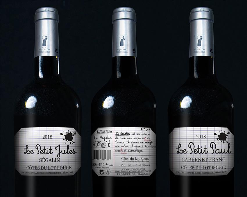 vin de cepage graphisme etiquette com1vision la rochelle niort cahors