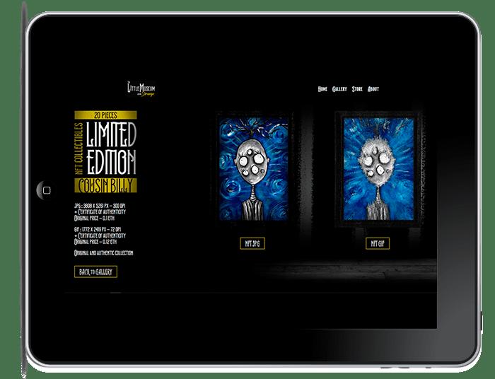 site internet strange web affiche logo com1vision
